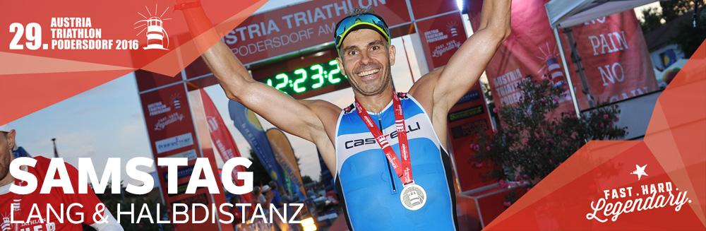 Austria Triathlon Podersdorf // Samstag // Langdistanz Halbdistanz
